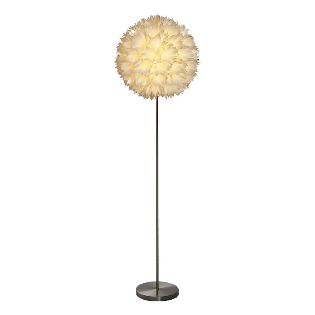 Nordic Simple and Modern Style Creative Living Room Floor Lamp Bedroom Bedside Floor Lamp, Polypropylene Lampshade, Flower Floor Lamp, E27
