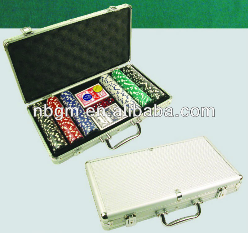 300 stuks 11.5g dobbelstenen poker chip set