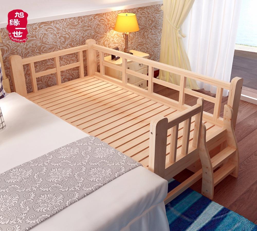Popular Home Muebles De Madera Cuna Niño Valla De Madera Maciza Cama ...