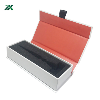White razor gift box packaging printed logo foam insert
