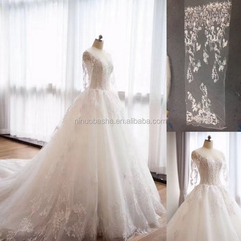 NW1212 Embrodery Lace Wedding Dress 2017 Long Sleeves Bridal Gown Real Sample OEM
