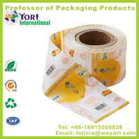 Yori adhesive in mold shrink label for plastic beverage packaging