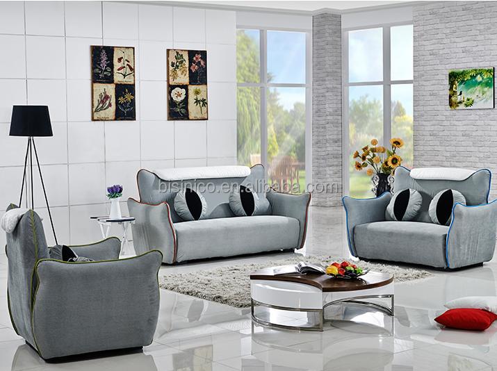 Bisini fancy cartoon living room sofa set, tejido moderno sofá ...