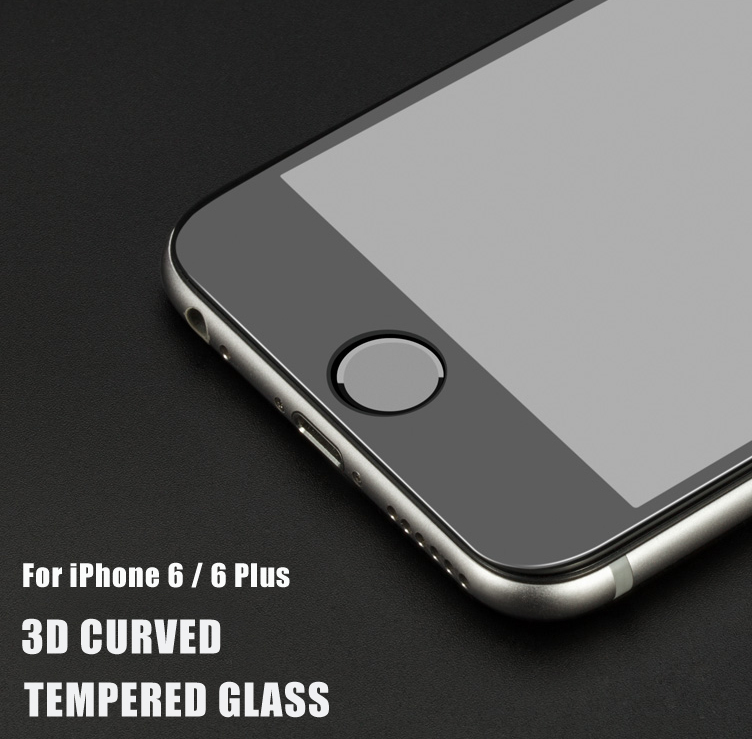 buy online 08837 9db09 Full Size Cover !! Color 3d Tempered Glass Screen Protector For Iphone 6 /  6 Plus / 3d Curved Tempered Glass Screen Protector - Buy 3d Tempered Glass  ...