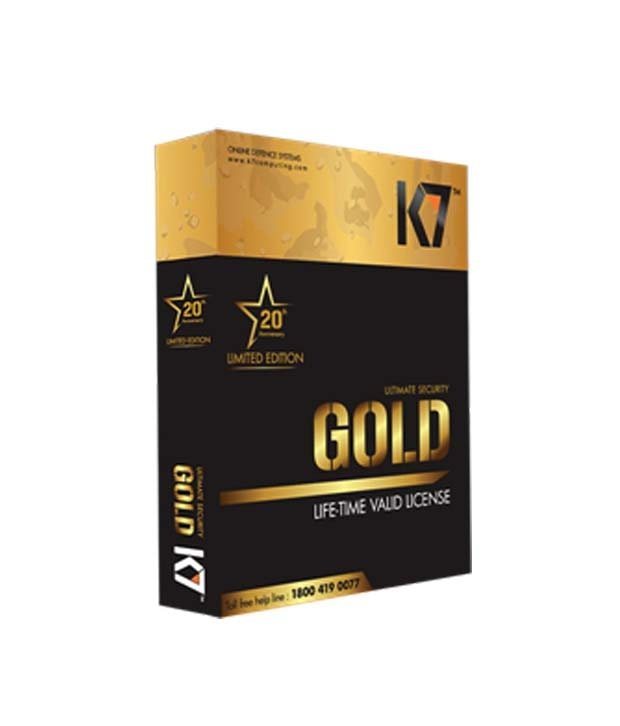 K7 Ultimate Security Gold Life Time Antivirus Validity Pack