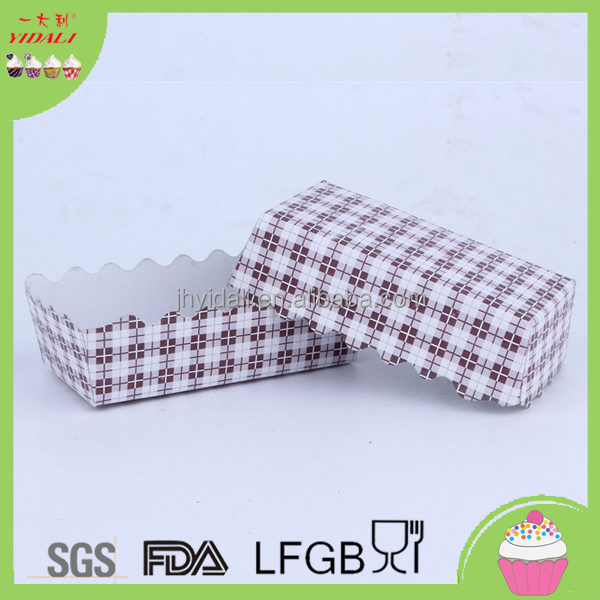 Rectangular Paper Cupcake Liners Paper Baking Loaf Pans