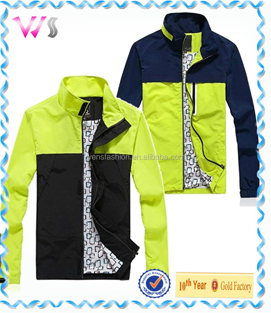 Leisure contrast color Korea fitness fashion 2014 new design jacket