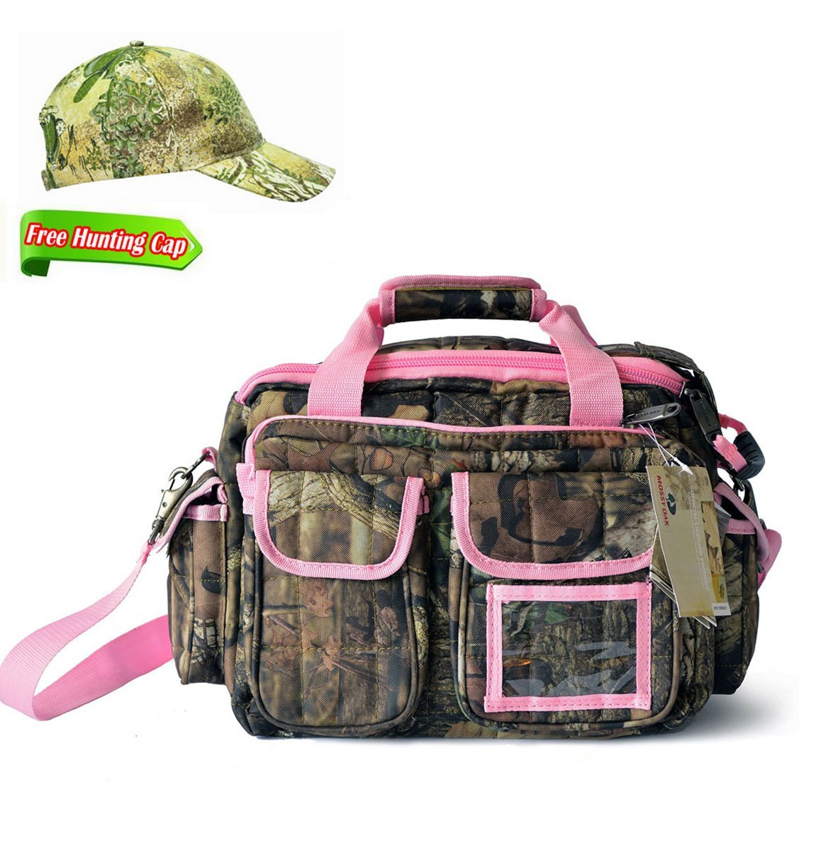 Get Quotations · Explorer Pink Mossy Oak Hunting Camo Padded Deluxe Tactical  Range Gear Bag Shooting Ammo Range Rangemaster 3cee6a8268cb3