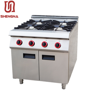 butterfly kitchen appliance cast stainless restaurant gas cooker 4 burners with oven