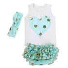 Wholesale baby clothing set , gold baby cotton outfit, new style clothes in stock