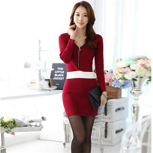 10212e631 Get Quotations · Vestidos de renda Women Korean Sexy Cotton Casual Lace  Dress Long Sleeve Mini Dress spring and