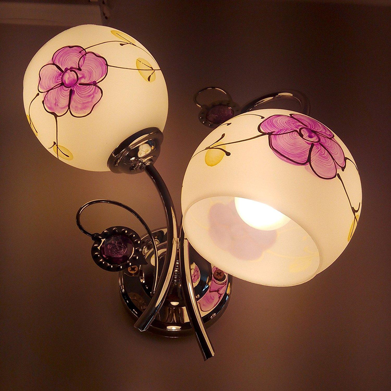 Wall lamp creative wall lamp glass wall lamp LED wall bed wall lamp wall lamp hotel wall lamp crystal corridor lamp led lamp