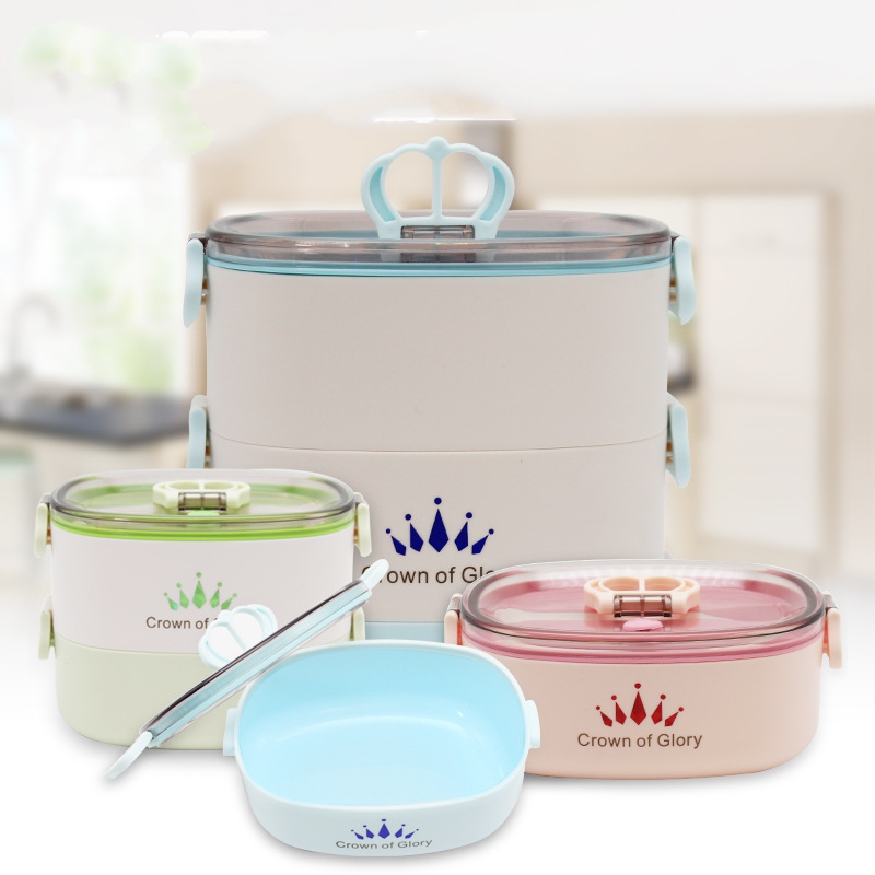 Wholesale quality green lunch box stackable lunch box