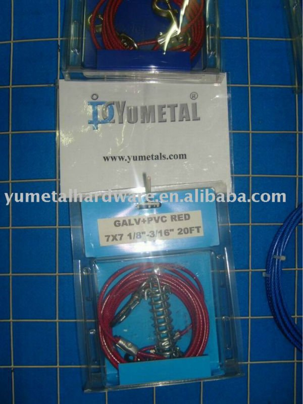 Rojo 7x7 perro tie out cable pvc