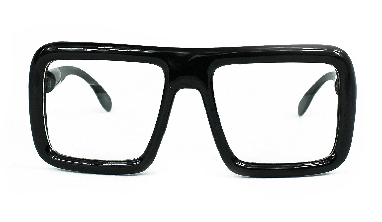bc061df7df0c Get Quotations · Oversized Square Hipster Thick Frame Unisex Rectangular  Glasses