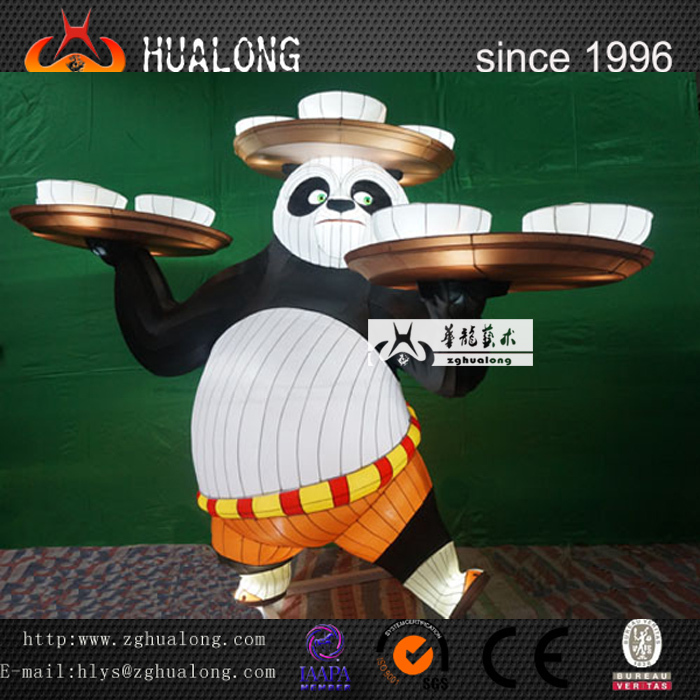 Outdoor Model Kungfu Panda Playground Lantern Equipment