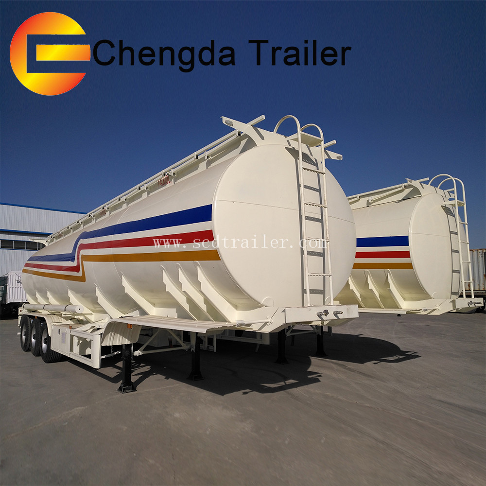 Tank trailer manufacturers multi axle gasoline fuel tanks fuel transfer tanks for sale