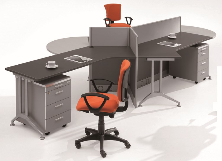 Centro De Mesa De 120 Grados Oficina Cubículo Estación De Trabajo ...