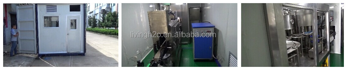 Containerized water treatment plant water bottle plant