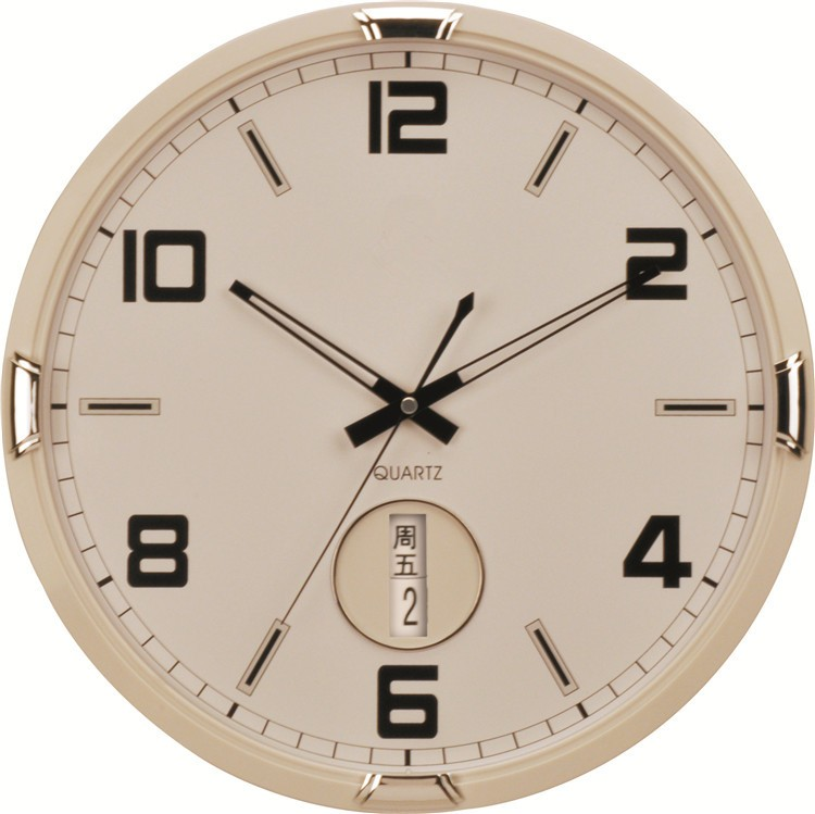 date wall clock with temperature and humidity luxury wall clock