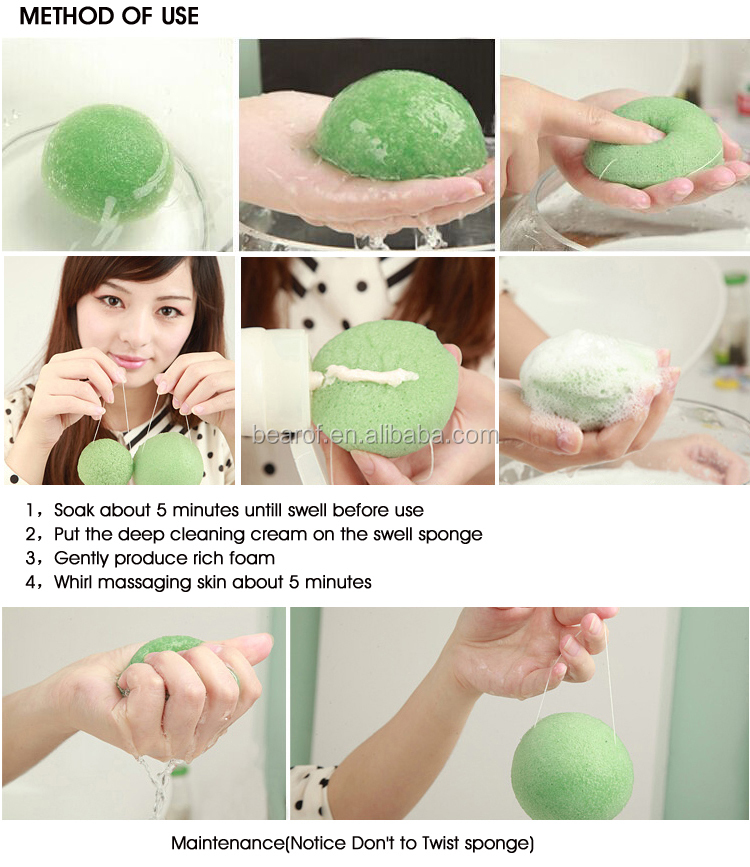 Clean Face Konjak Sponge Removing Pigmentation And Acne Skin ...