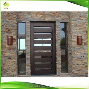modern side panel oak solid wood exerior entry doors