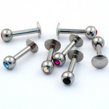 316L Stainless Steel Press Fit CZ Gem Ball Jewelry Pictures of Lip Piercings