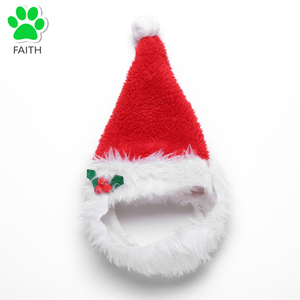 FAITH Red Christmas Pet Santa Hat Dogs Cats Holiday Festivals Christmas Hat