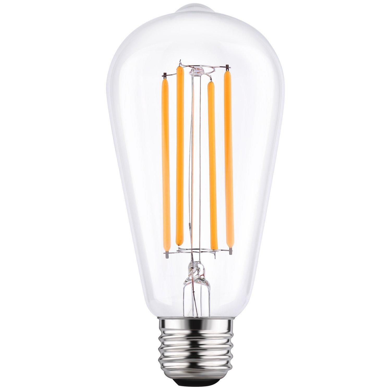 LETO ST64 Vintage LED Edison Bulbs Filament Light Bulb Dimmable [edison style][Energy Saving 4W LED- 40W Equivalent ][UL Listed][2200K Warm]E26 Based [led bulb home]-1Pack