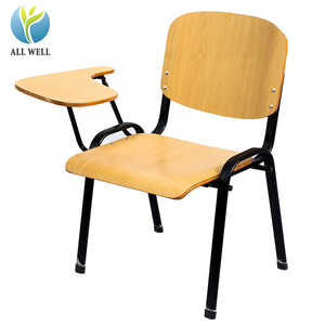 Wooden training chair with writing pad