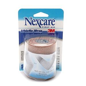 Nexcare Self-Adhering Athletic Wrap, 5 yds, Tan 1 ea Pack of 5