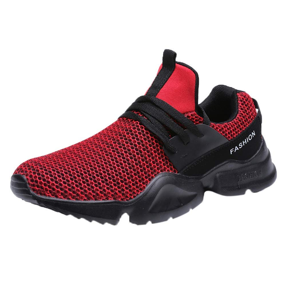 Caopixx Shoes for Men Outdoor Running Shoes Breathable Non-Slip Fitness Athletic Sports Sneakers