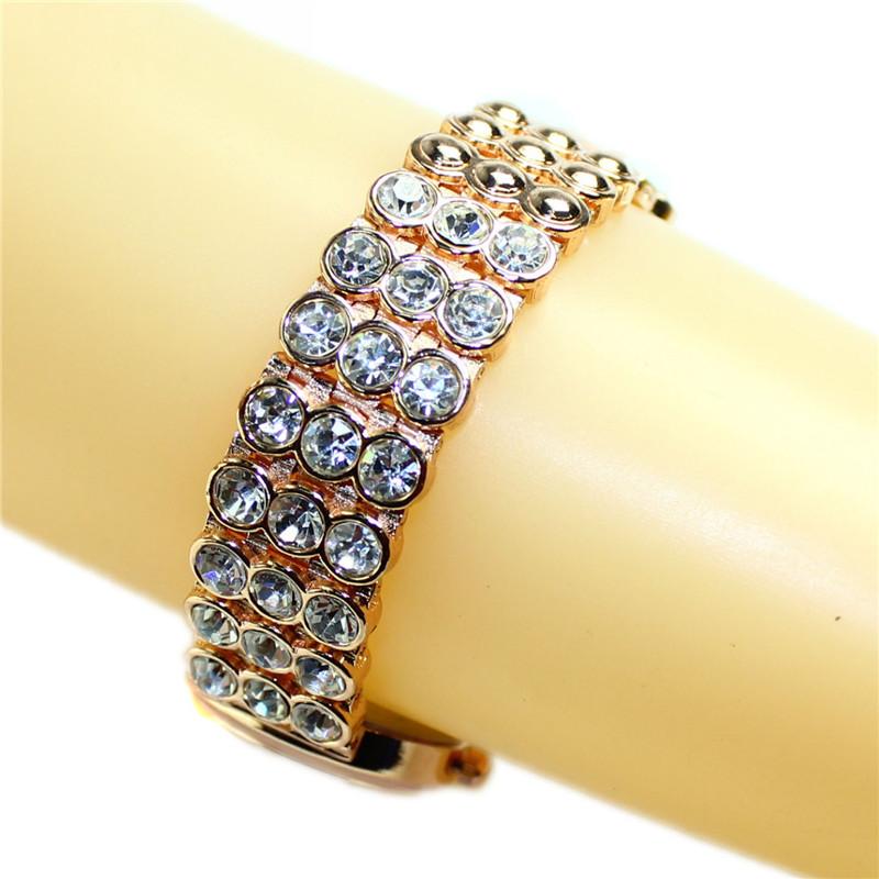 Золотой роскошные часы женщины в алмаз стразы кварцевый браслет часы часы часов