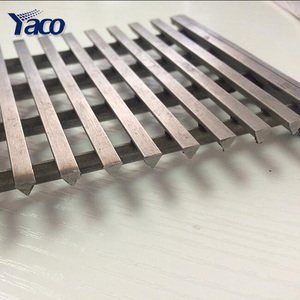 china factory ss 304 v-shaped oil pipe wedge wire mesh well screen filter header panel basket and grates