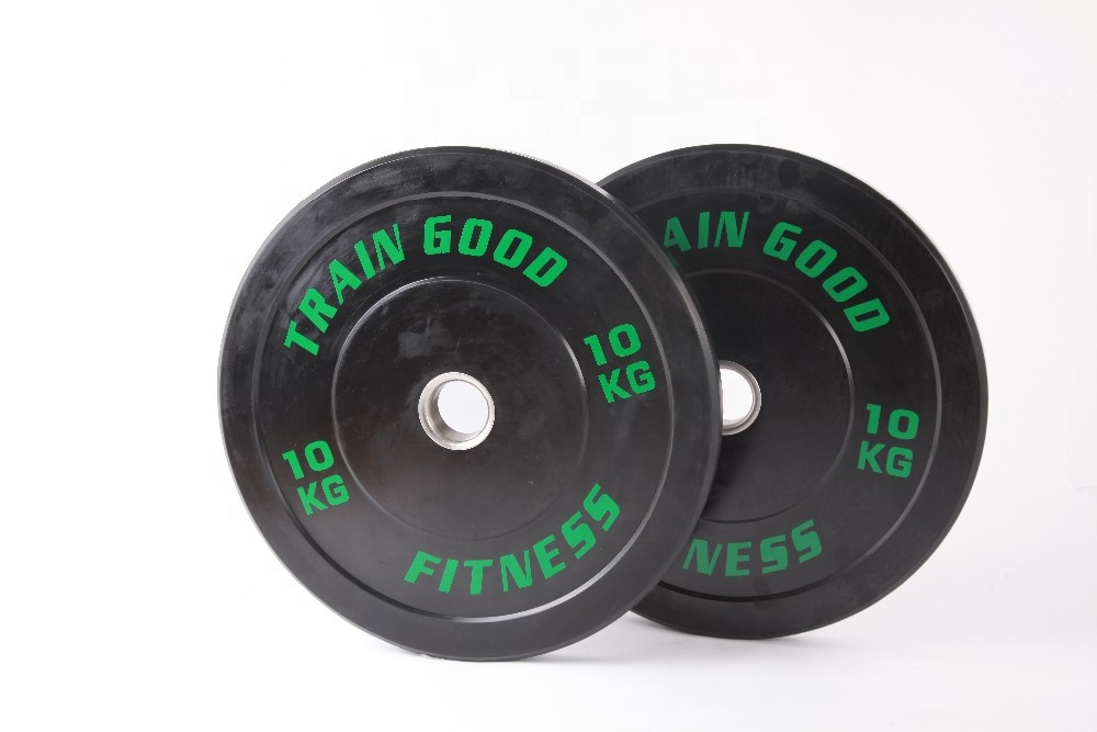 fitness equipment barbell bumper plate rubber weight plate for gym