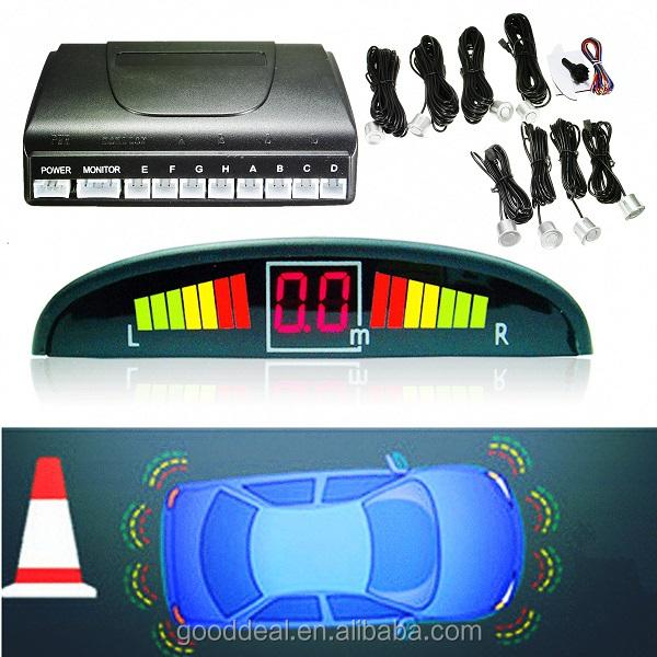 Car Parking Sensor with 8 Reverse Backup Radar Monitor Detector System