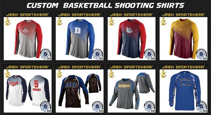 44cb4e2debb custom basketball warm up shirts/basketball shooting shirts/jersey  wholesale shooting shirts