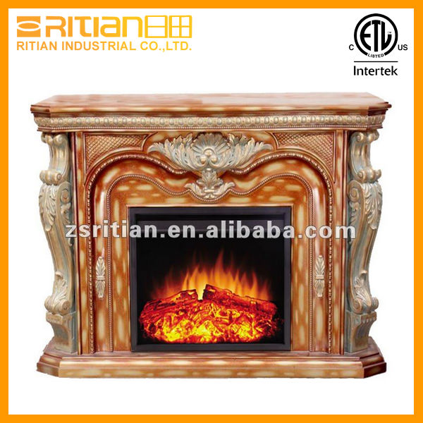 optical flame warming insert living electric led artificial fireplace mantel item wood decorating room