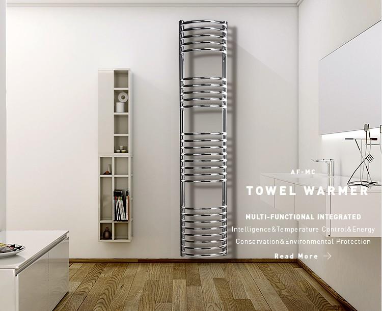 Elektrische Handdoekdroger Badkamer : Avonflow gebogen tube designer chrome elektrische handdoek droger