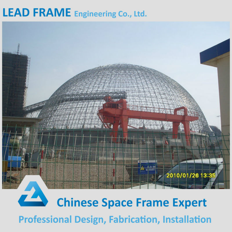 light steel space frame for coal shed