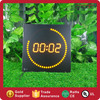 Digital LED Table Clock Yellow Light Running Dot Wall Clock