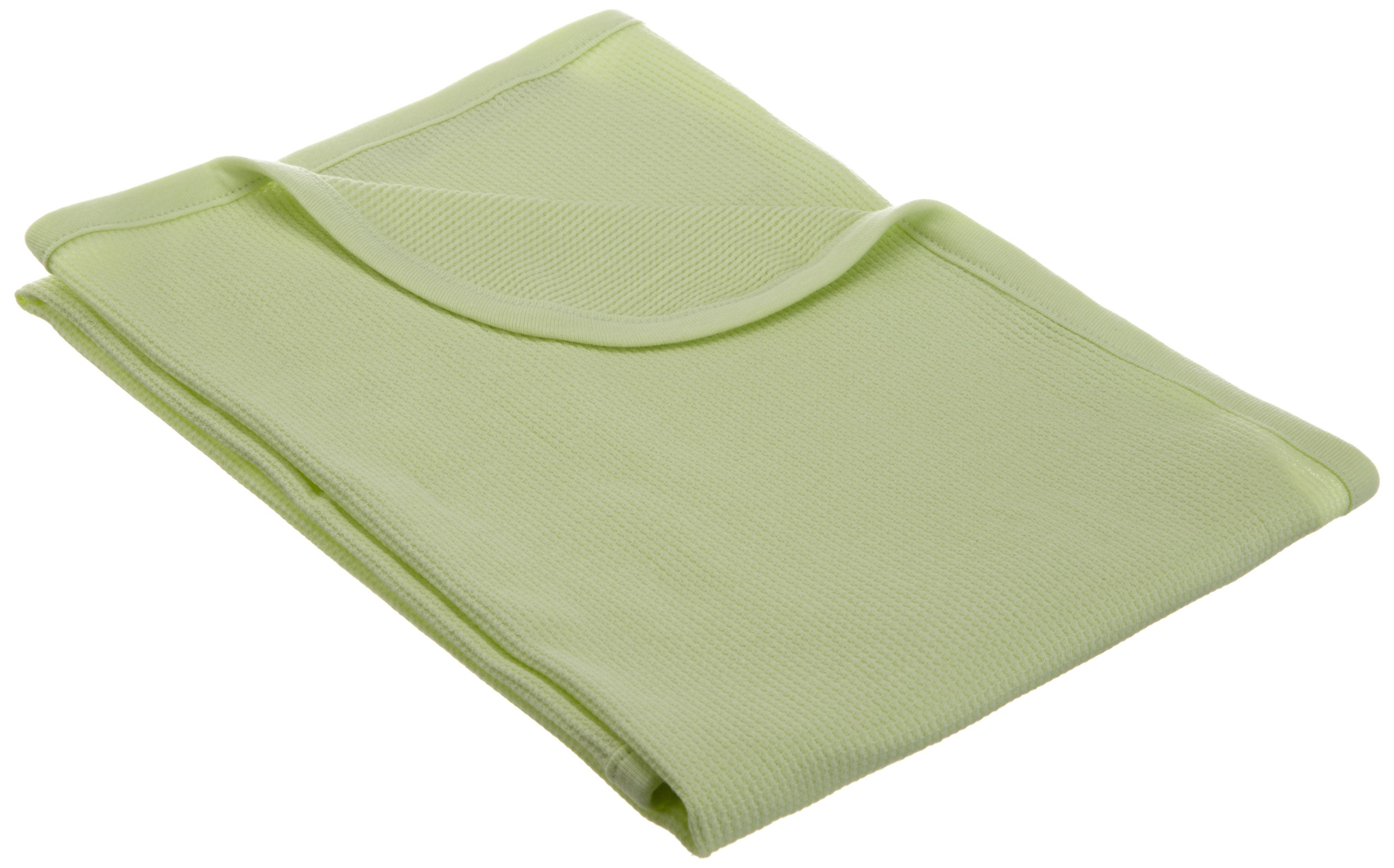 "American Baby Company Full Size 30"" X 40"" - 100% Cotton Swaddle/Thermal Blanket, Celery"