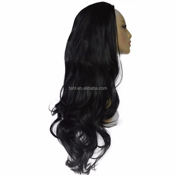 High Quality Black Heat Resistant Synthetic Fibre Hair