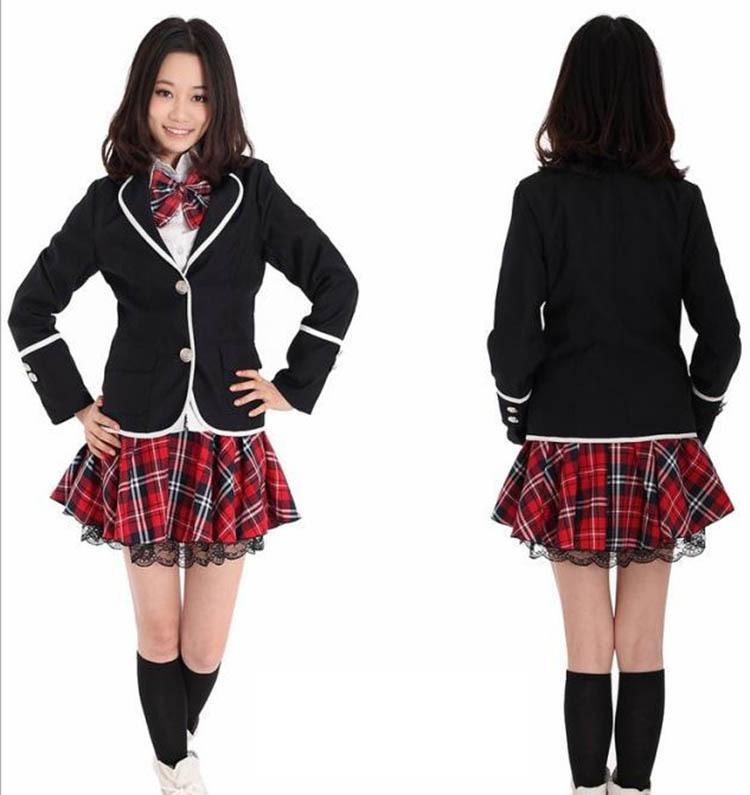 Anime British Korean Japanese Girls High School Uniform ...