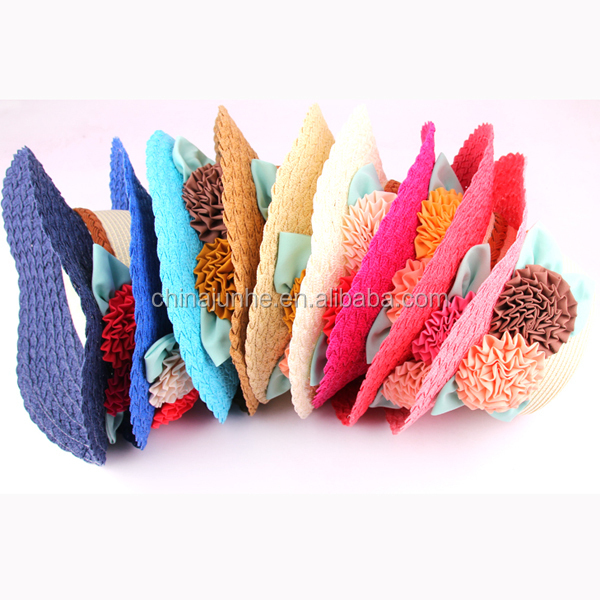 Fashion women ladies hats cool summer mini straw hats to decorate