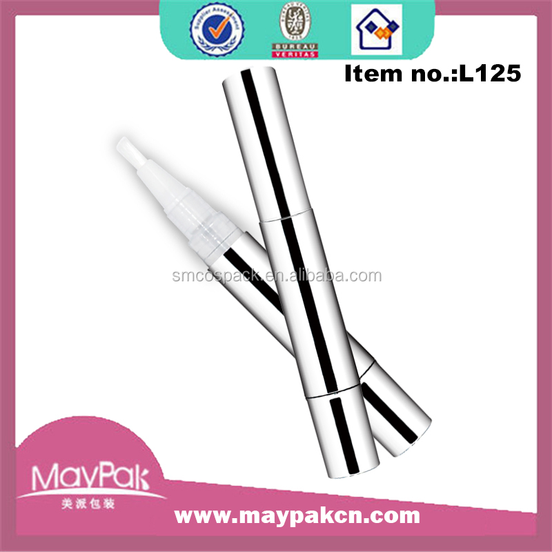 2ml metallic twist empty teeth whitening pen with silicone tip applicator