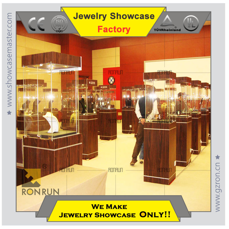 2015 Jewelry store display showcase display kiosk jewelry store modern overall design top quallity business vetran