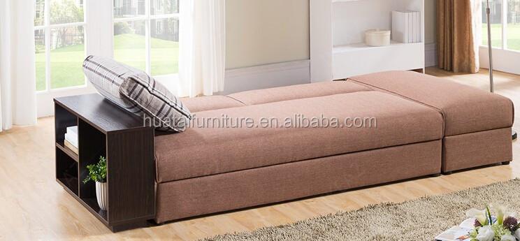 Tejido multifuncional sof cama living room sofa madera for Sofa cama con almacenaje