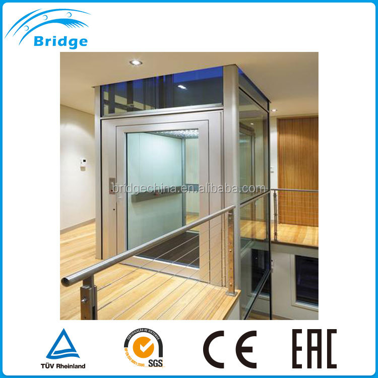 Hot selling villa lift ,indoor home elevator waterproof material