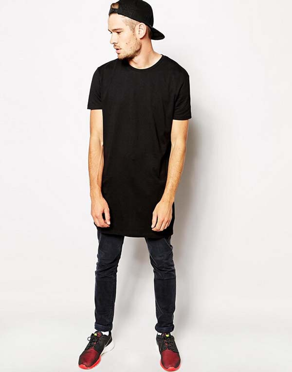 hiphop design mens black extra long t shirt buy extra